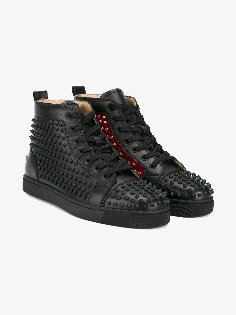 f28cf45de037 CHRISTIAN LOUBOUTIN STUDDED LOUIS HIGH-TOP SNEAKERS.  christianlouboutin   shoes  sneakers