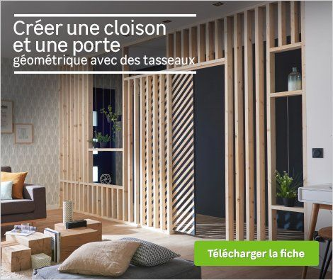 diy realiser une cloison en tasseau cloison verri re int pinterest living rooms room. Black Bedroom Furniture Sets. Home Design Ideas
