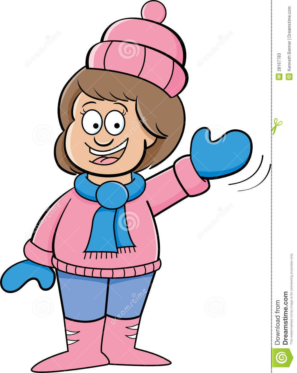 image result for cartoon people in winter clothes school