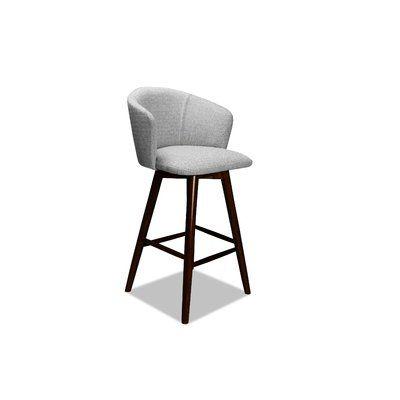 Ivy Bronx Lynda 26 Quot Swivel Bar Stool Upholstery Linen