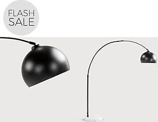 Made.com bow grote staande lamp matzwart en marmer verlichting in