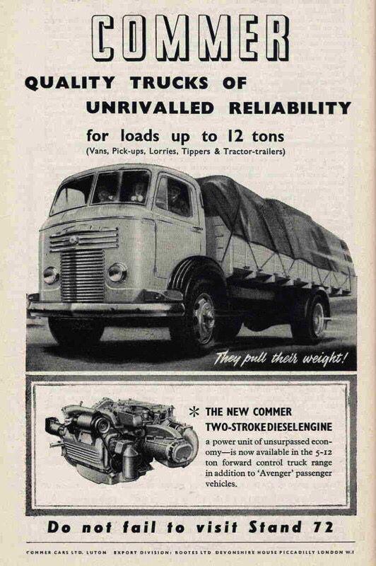 d3df5dfc1ca8f6 Commer trucks 1950s