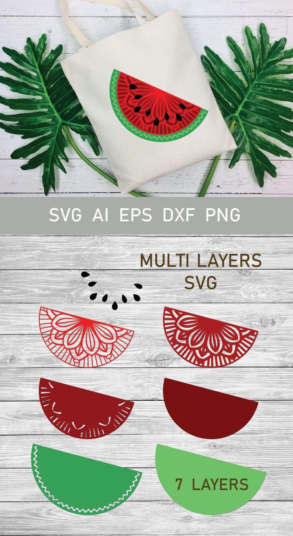 Download Multi Layer SVG Watermelon Half Mandala SVG 3d Layered ...
