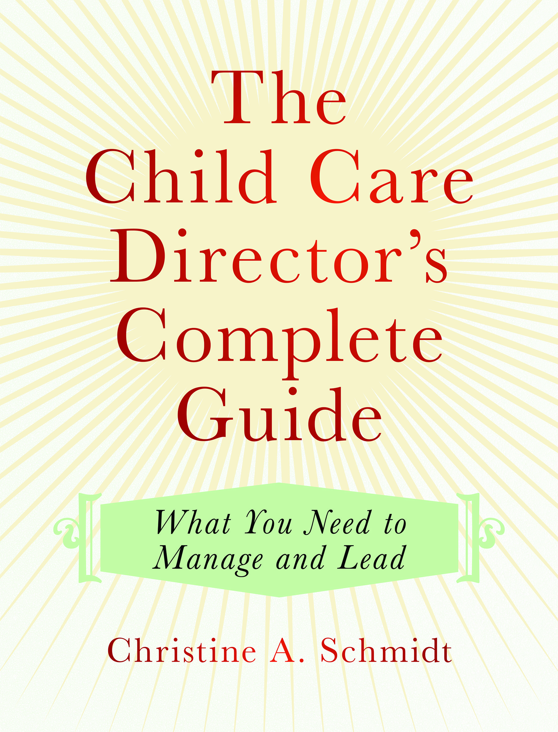 A comprehensive handbook family child care early