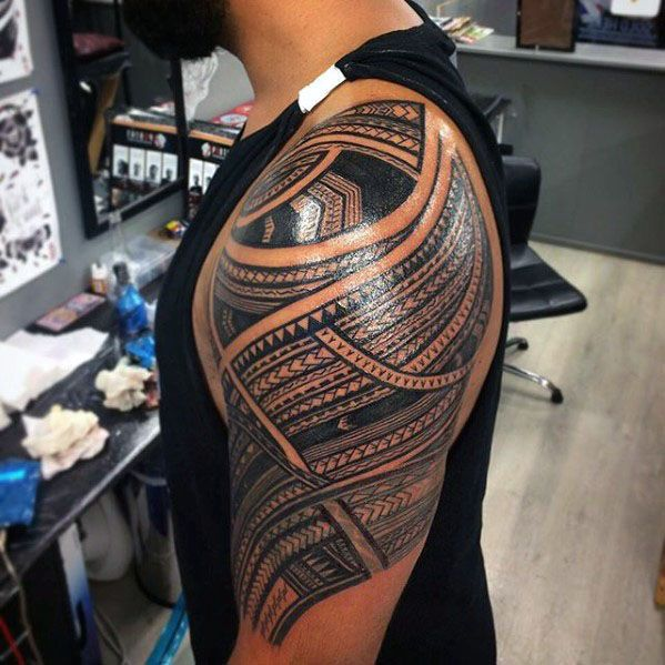 50 Polynesian Half Sleeve Tattoo Designs For Men Tribal Ideas Half Sleeve Tattoos Polynesian Half Sleeve Tattoo Half Sleeve Tattoos For Guys