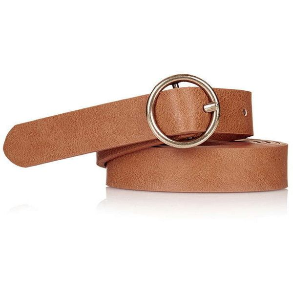 TOPSHOP Round Buckle Belt (2180 RSD) Liked On Polyvore