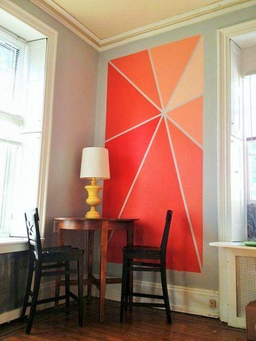 Ideas para pintar paredes de forma original aprendiendo pinterest paredes pintadas - Formas de pintar paredes ...