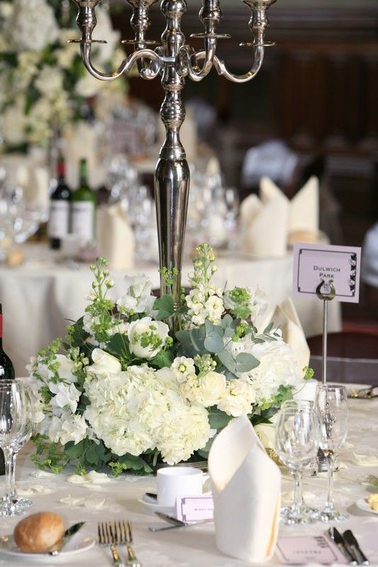 Use Floral Design As Base For Centre Piece With The Candles The Feature Up H Candelabra Wedding Candelabra Wedding Centerpieces Candleabra Wedding Centerpieces