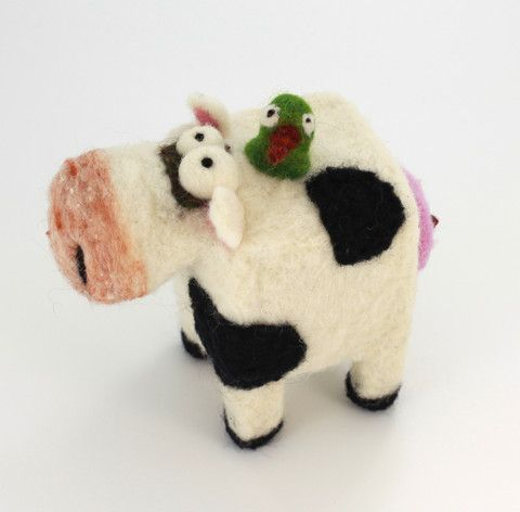 Large Square Cow - Woolbuddy