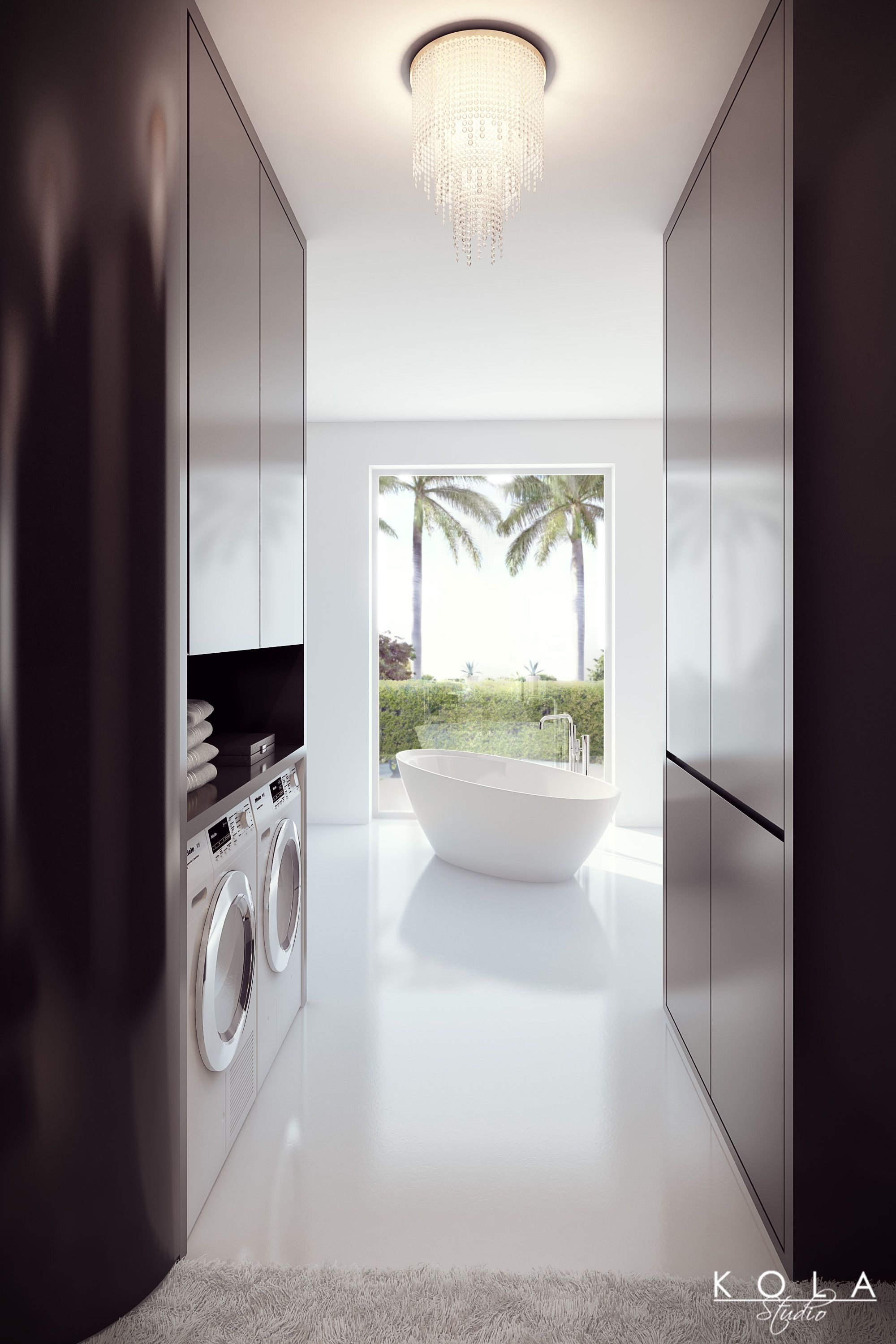 Miele Washing Machine Presentation. An Idea For A Chic Interior   Wardrobe  And Laundry In