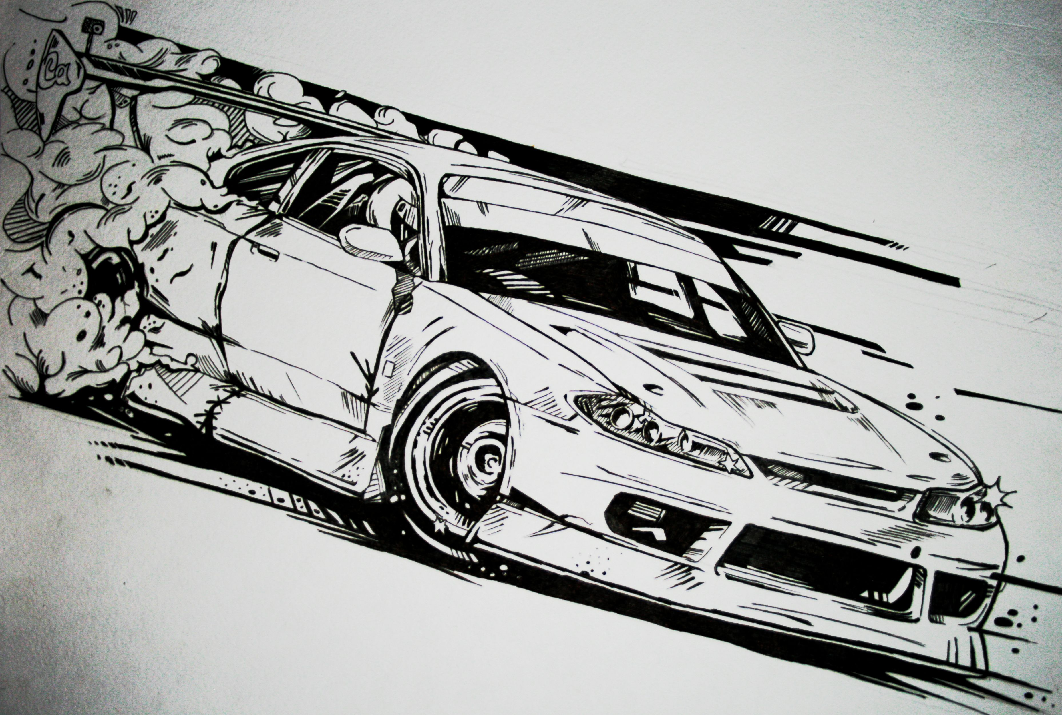 Nissan Silvia Drift Car Illustration My Illustration