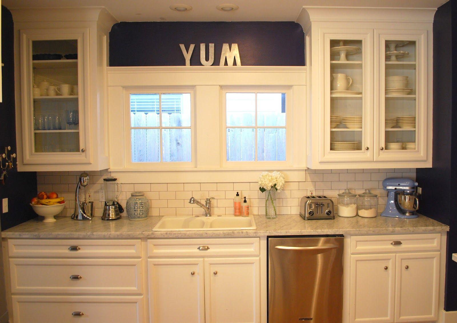 cream subway tile, dark grout | kitchen | Pinterest | Grout, Subway ...