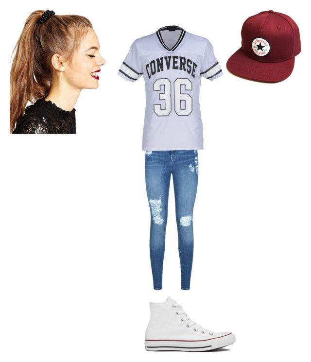 """Converse"" by itsmegabby9 ❤ liked on Polyvore featuring Converse, Lipsy and ASOS"