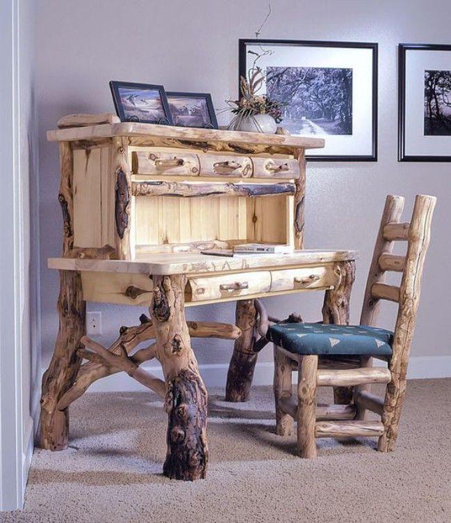 Delightful 10 Log Furniture Ideas