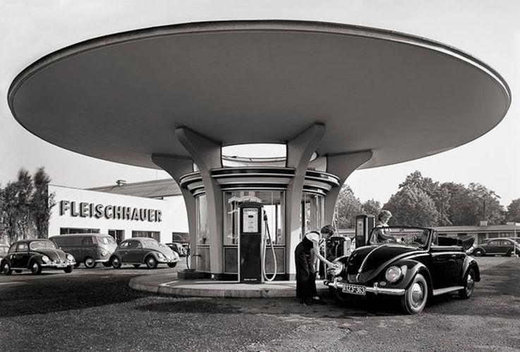 tankstelle fleischhauer 1950s cologne germany foto karl hugo schm lz a r c h i t e c t u. Black Bedroom Furniture Sets. Home Design Ideas