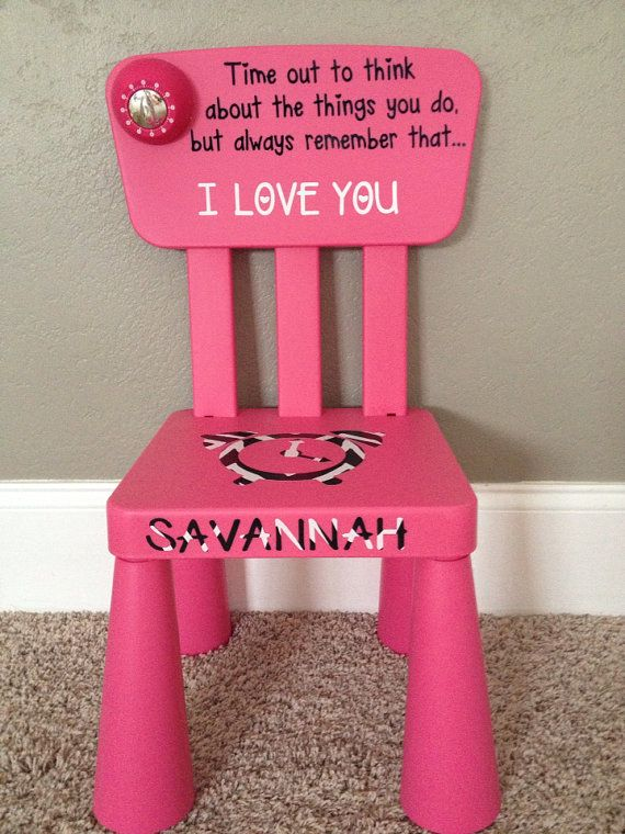 Personalized Time Out Chair with Timer- Back Ordered on Etsy, $60.00