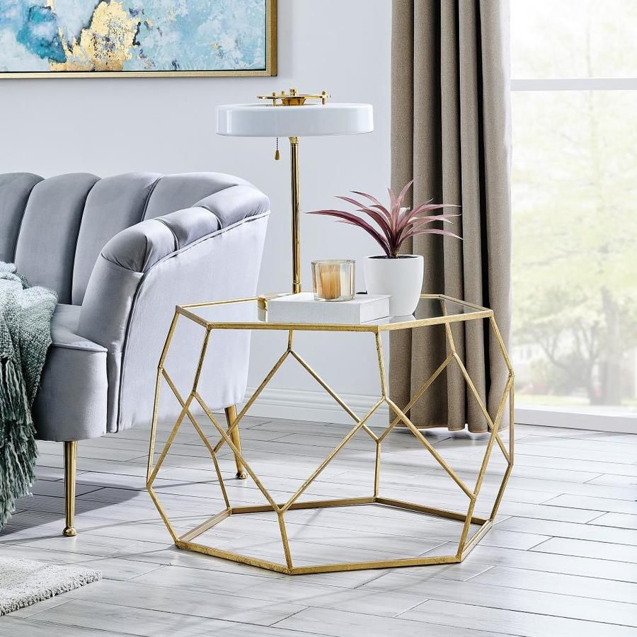 Firstime Glass Coffee Table Lowes Com Glam Coffee Table Coffee Table Gold Living Room [ 900 x 900 Pixel ]