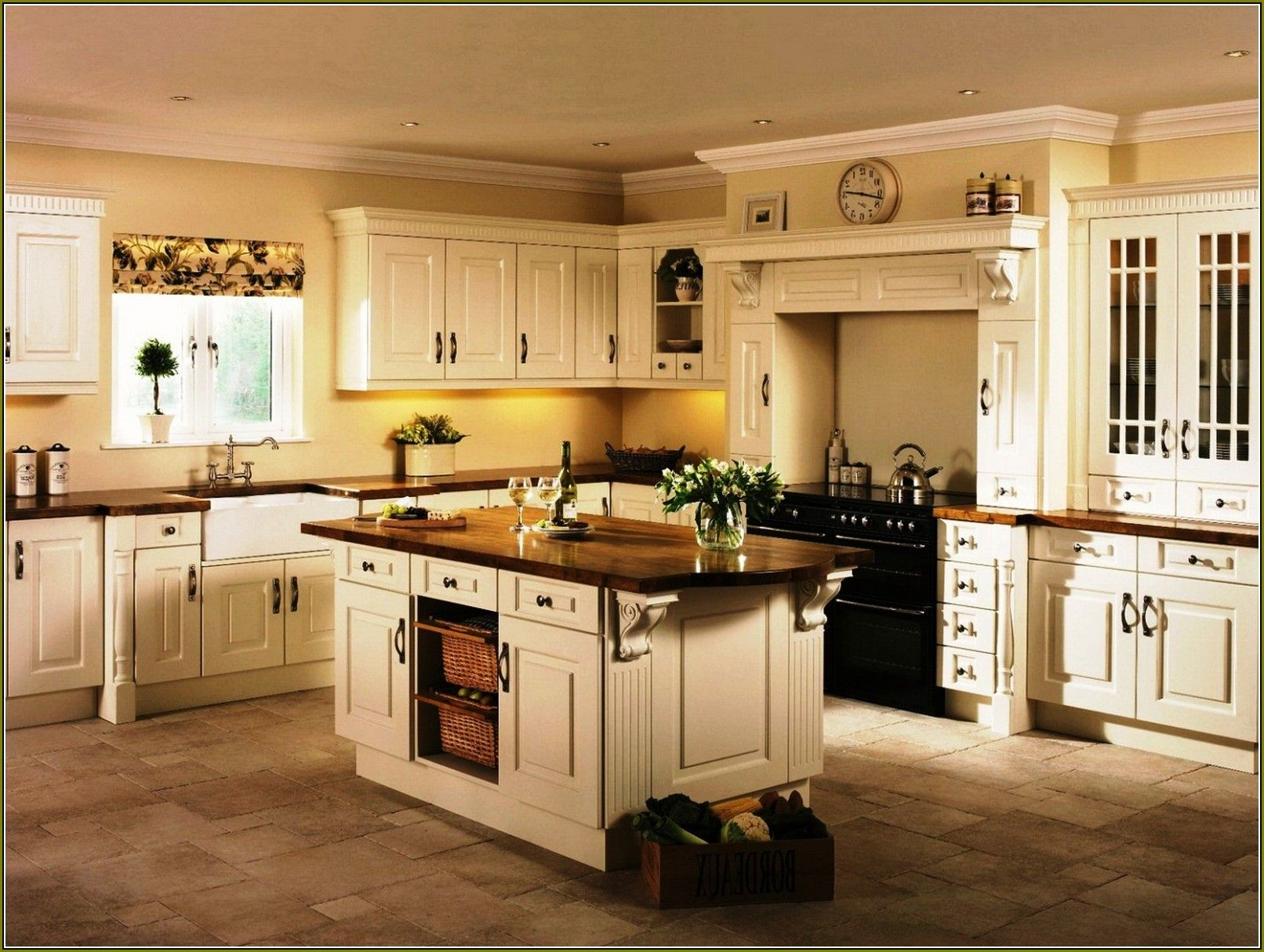 Cream Colored Kitchen Cabinets With Glaze   Home Design ...