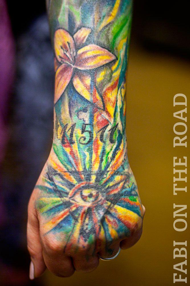 Healed For 2 Years Healed Tattoo Freehand Aquarell Vegan