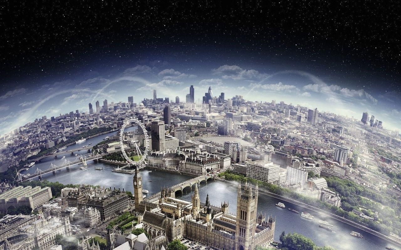 london, небо, лондон, horizont, горизонт, big ben