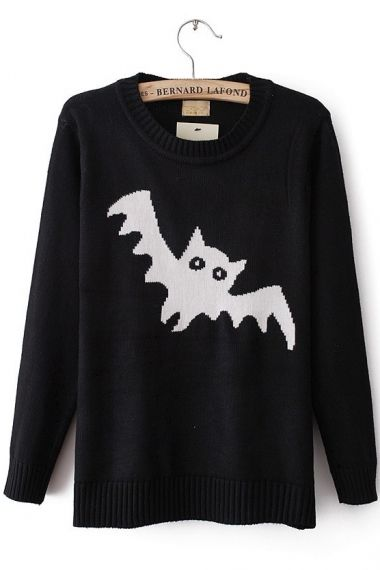 Bat Sweater that's cute for Halloween | Fashionista | Pinterest ...