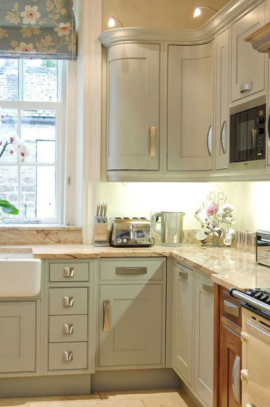 Chantry Blue Kitchen Cabinets With Tan Countertop House Stuff