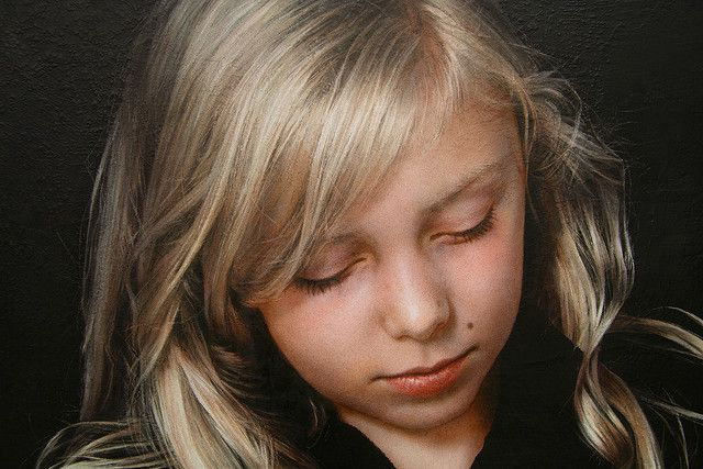 Jochen Hein. Jessine (detail II), 2005, acrylic on jute