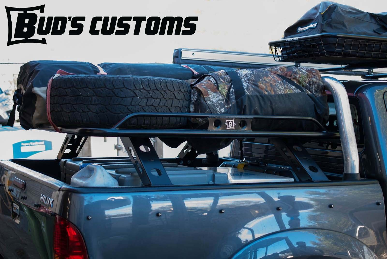 HILUX 05+ DUAL CAB 1.4M LONG TUB RACK - Buds Customs | Toyota ...