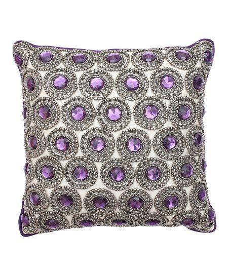 Purple Parachute Winston Rhinestone Pillow Sailors Room Cool Rhinestone Decorative Pillows