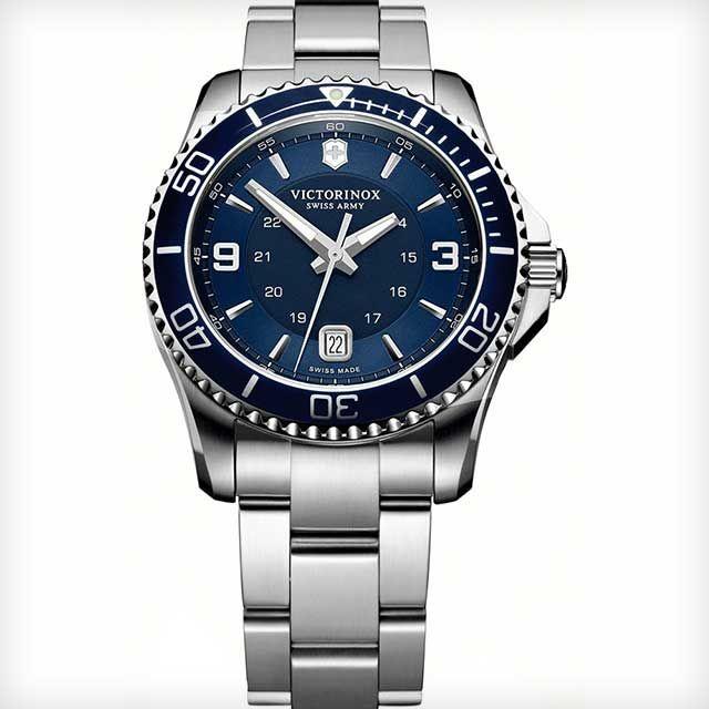 'Maverick GS' Stainless Steel Watch by Victorinox Swiss Army