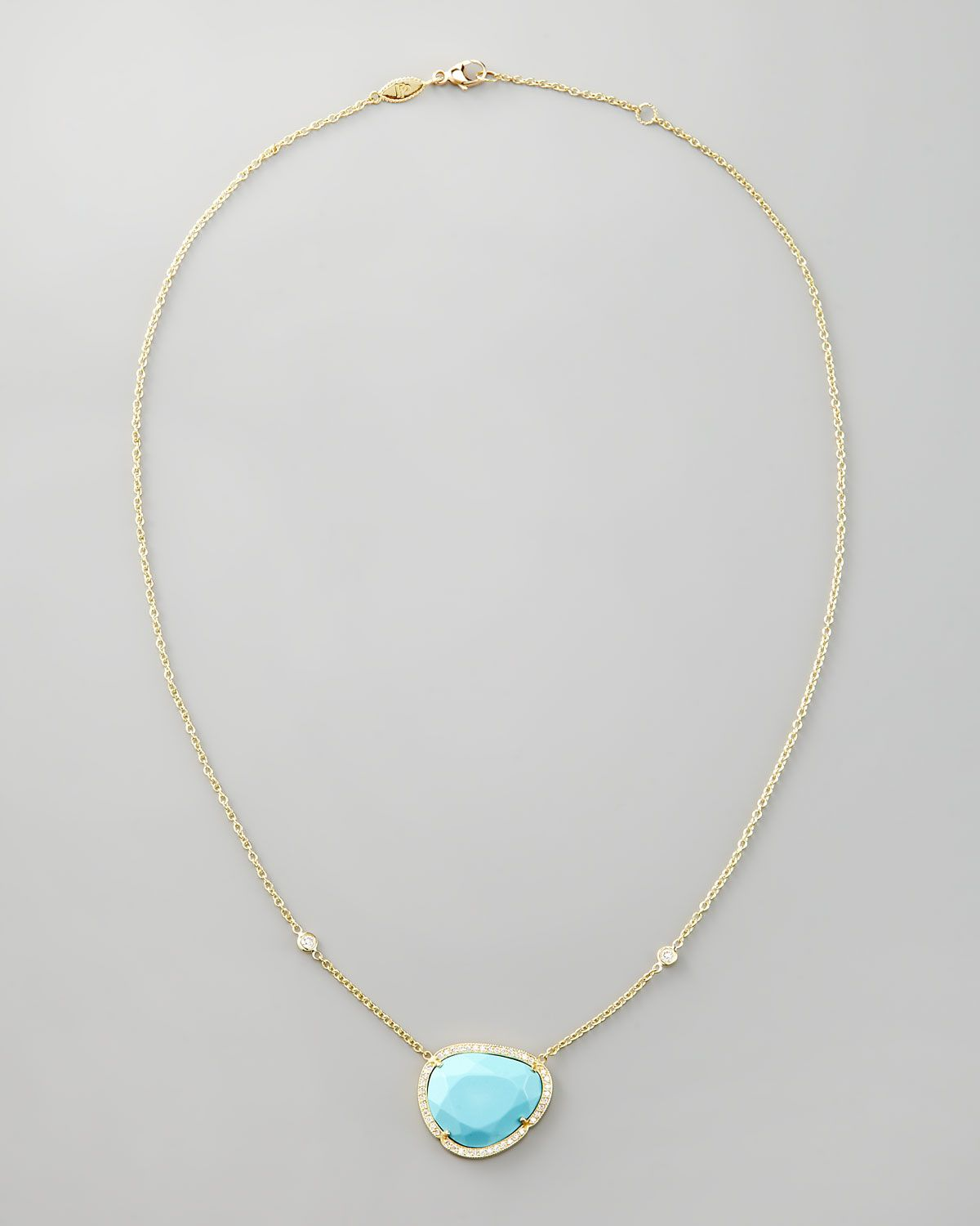 Penny preville diamond trimmed turquoise pendant necklace penny preville diamond trimmed turquoise pendant necklace aloadofball Choice Image