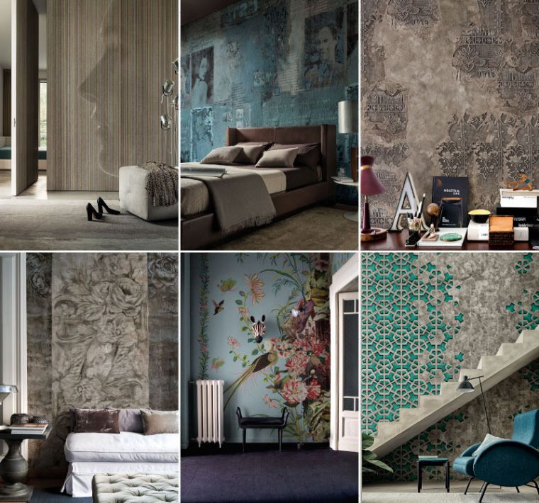 The new collections 2015 wall dec wallpaper as lifestyle for Tele arredamento moderno