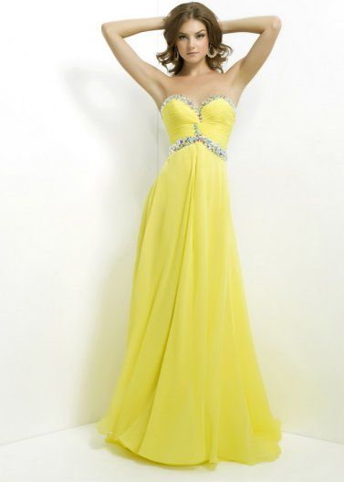 Yellow Long Rhinestone Blush Prom 9763 Ruched Evening Gown [Blush Prom 9763 Yellow] - $179.00 : Prom Dresses 2014 Sale, 70% off Dresses for Prom