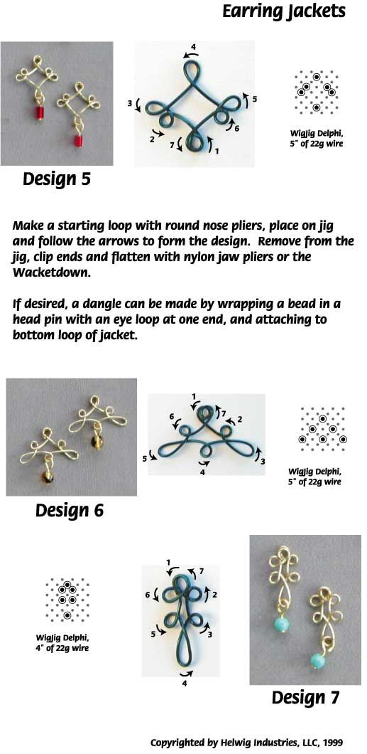 Wire and Beads Earring Jackets made with WigJig jewelry making tools ...