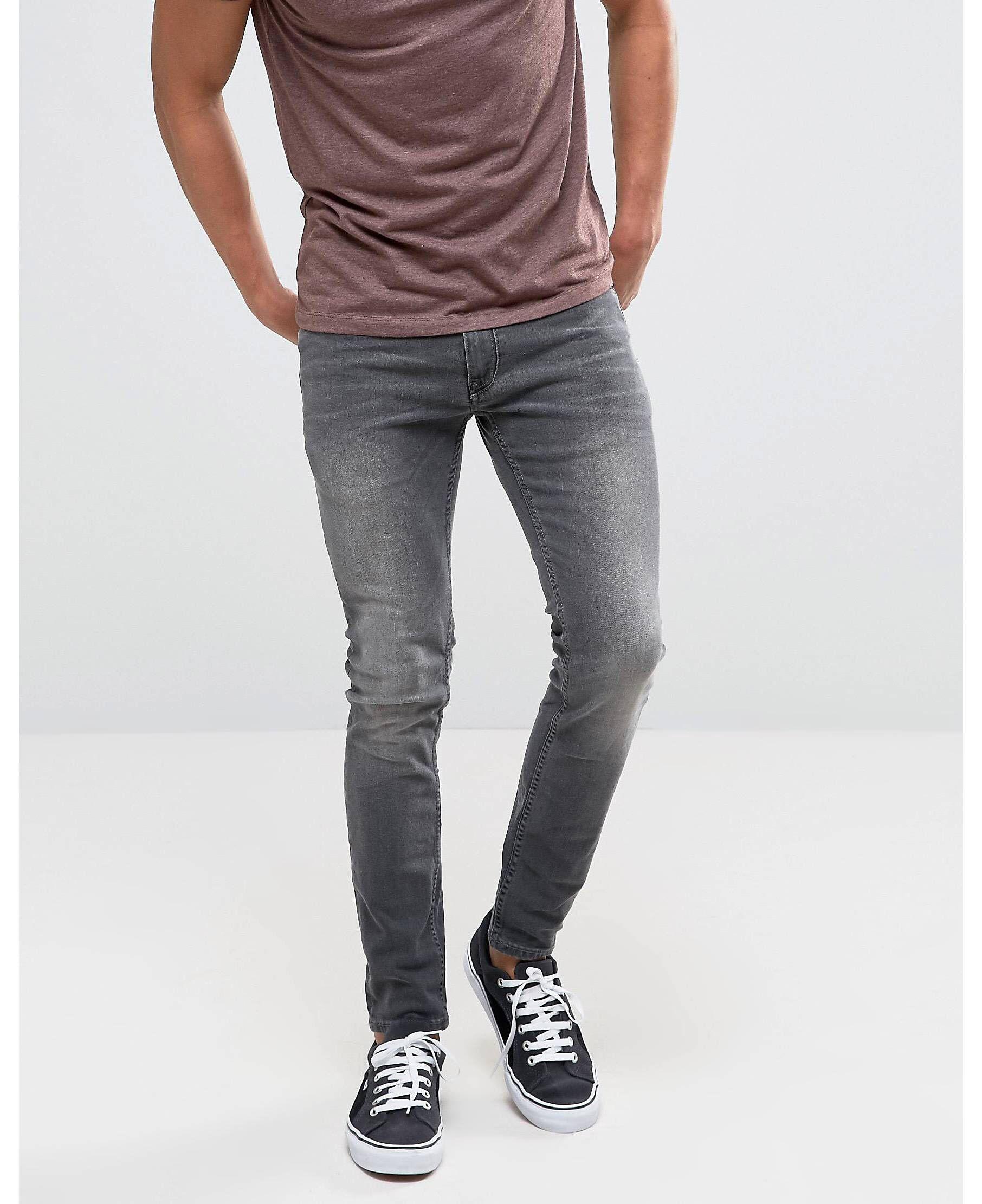 52d2847913e7 Burton Menswear Superskinny Black Washed Jeans in 2019
