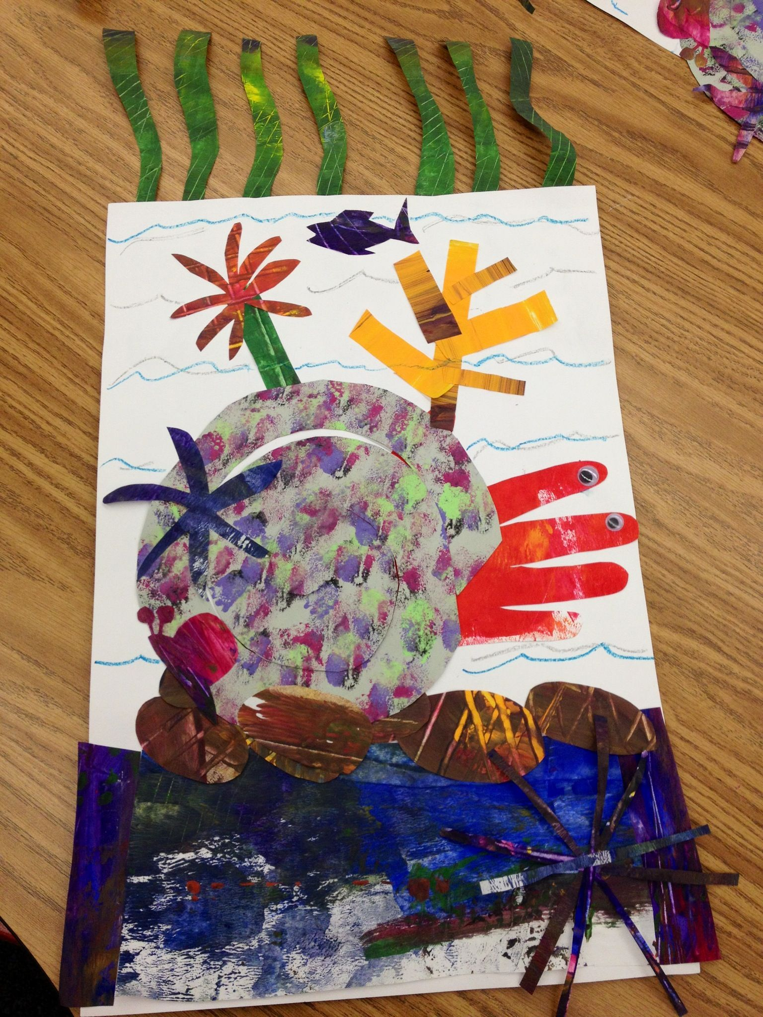 A House For Hermit Crab Eric Carle Style Paint Large Sheets Of