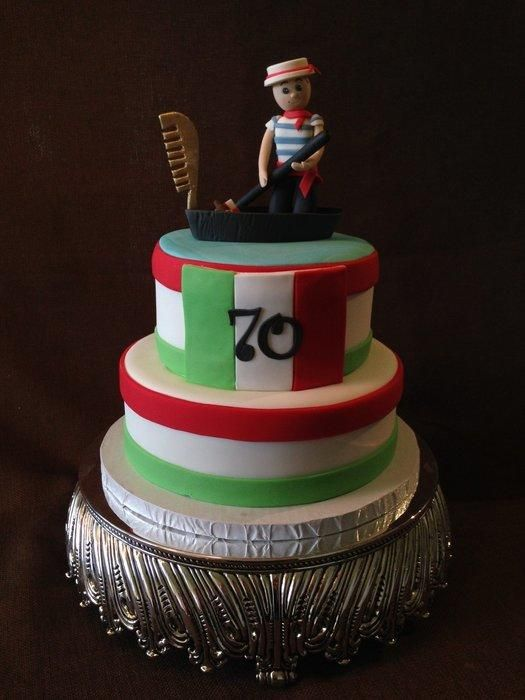 Outstanding With Love From Italy Cake By Diana Italian Cake 80 Funny Birthday Cards Online Necthendildamsfinfo