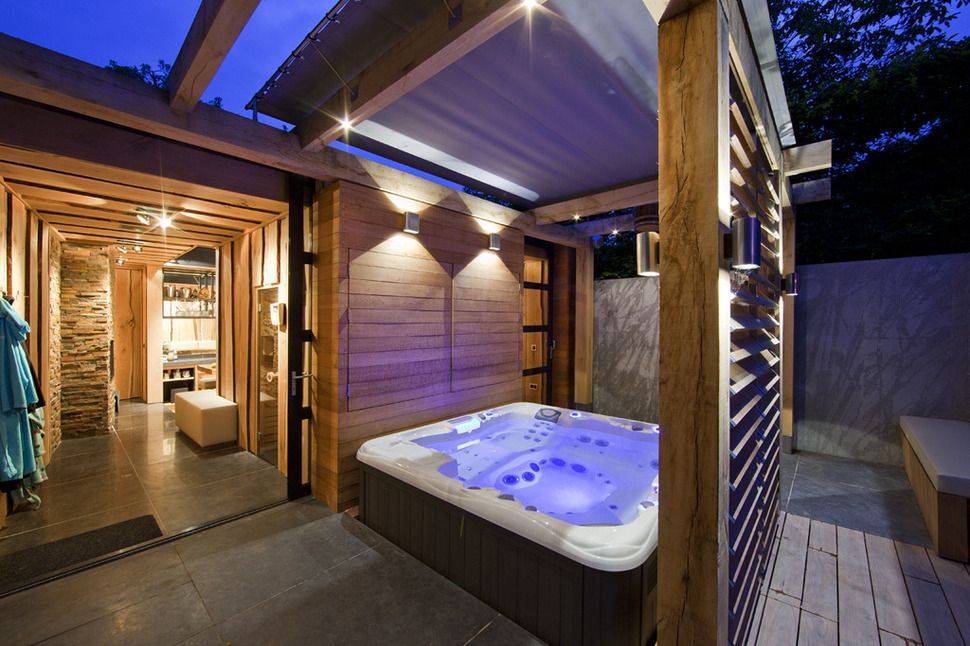 Home sauna next to the jacuzzi google search ideas for for Indoor sauna plans