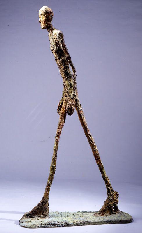 """""""L'homme qui marche"""" . Alberto Giacometti . 1960 #cc ..."""
