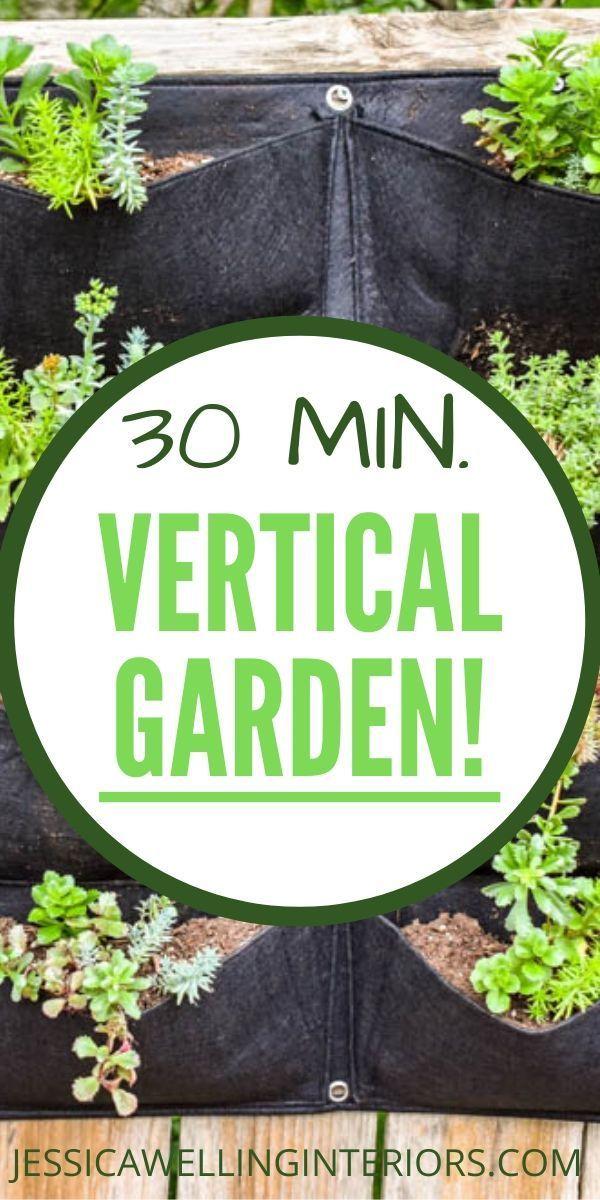 Easiest Vertical Garden Ever! Vertical garden diy