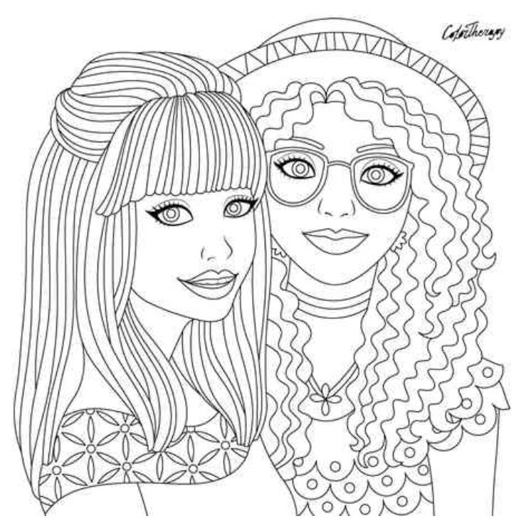 Hair Coloring Page Colortherapy App Cute Coloring Pages