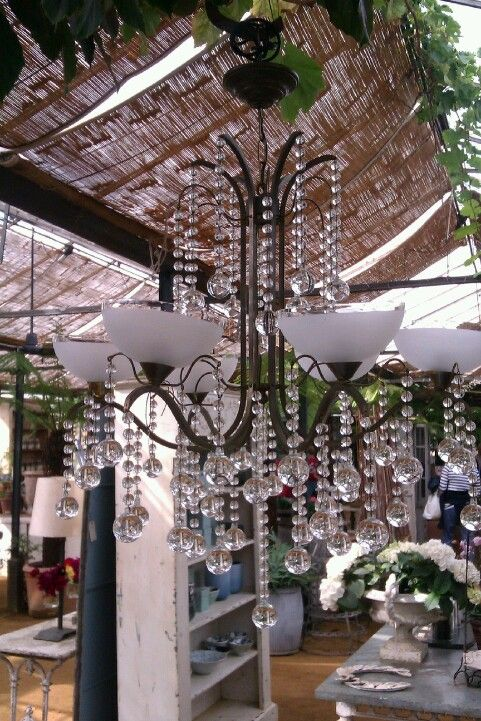 Chandelier Petersham Nurseries Richmond Uk