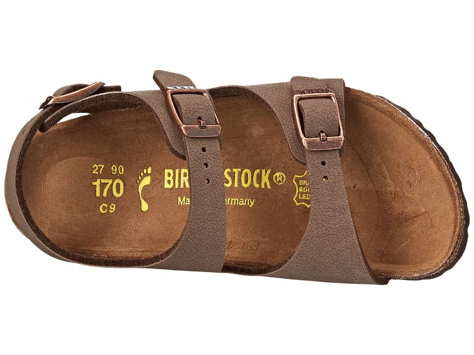 0d114a7f26ea Birkenstock Kids Roma (Toddler Little Kid Big Kid) Girls Shoes Mocha  Birkibuc