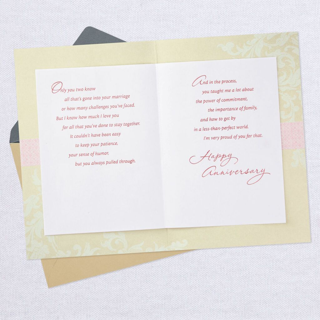 Love And Pride Anniversary Card For Mom And Dad Greeting Cards Hallmark Anniversary Cards Anniversary Greeting Cards Happy Anniversary Messages