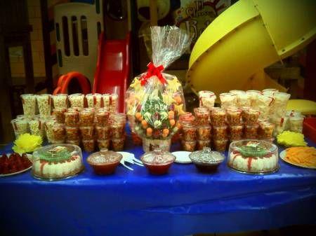 Fotos de mesas de dulces y salados para xv a os y for Mesas dulces para eventos