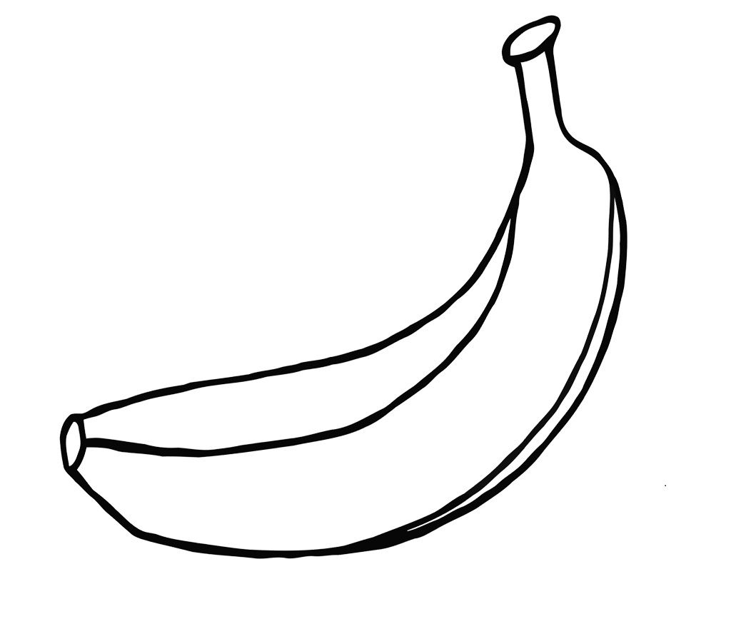 We Have A Large Pack Of Fresh Banana Coloring Pages To Choose From The Illustration