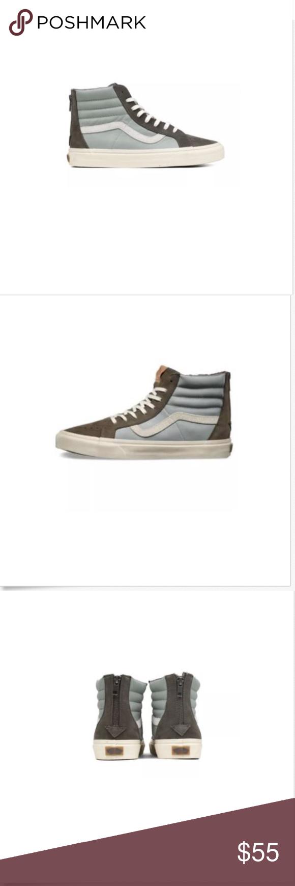 0d0a8b075ad718 Vans Sk8 Hi Zip Leather Nubuck Suede Major Brown Vans Off the Wall Sk8 Hi  Zip Leather Nubuck Suede Major Brown Shoes Men 9 Brand New In Box Vans  Shoes ...