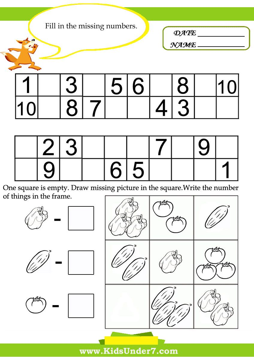 Kids Under 7 Kids math worksheets Educaci n – Free Printable Worksheets for Math
