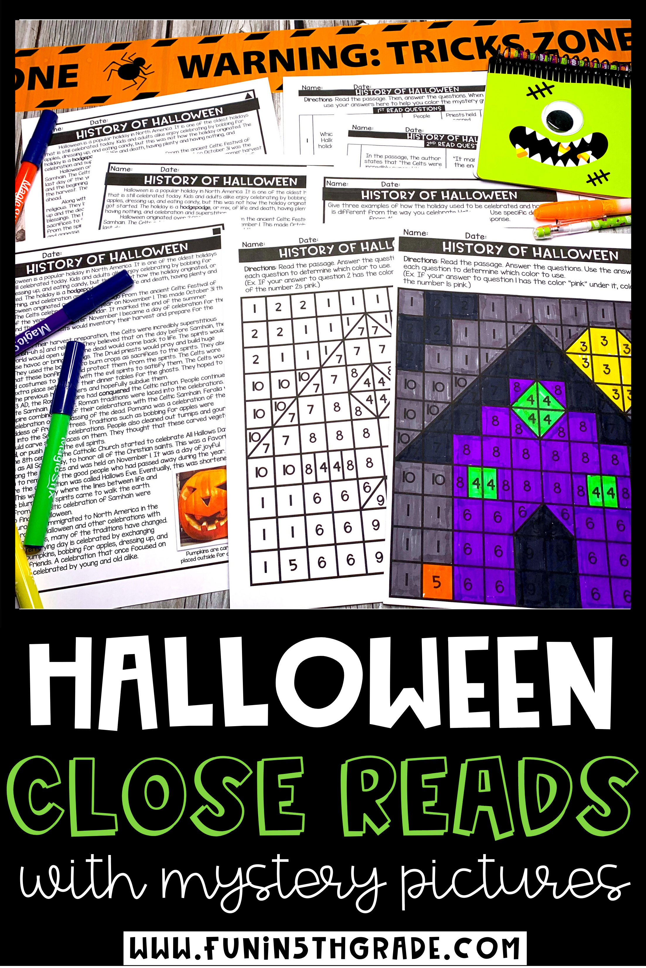 Halloween Close Reading Passages Reading Passages Teaching Activities Elementary Close Reading [ 3306 x 2205 Pixel ]