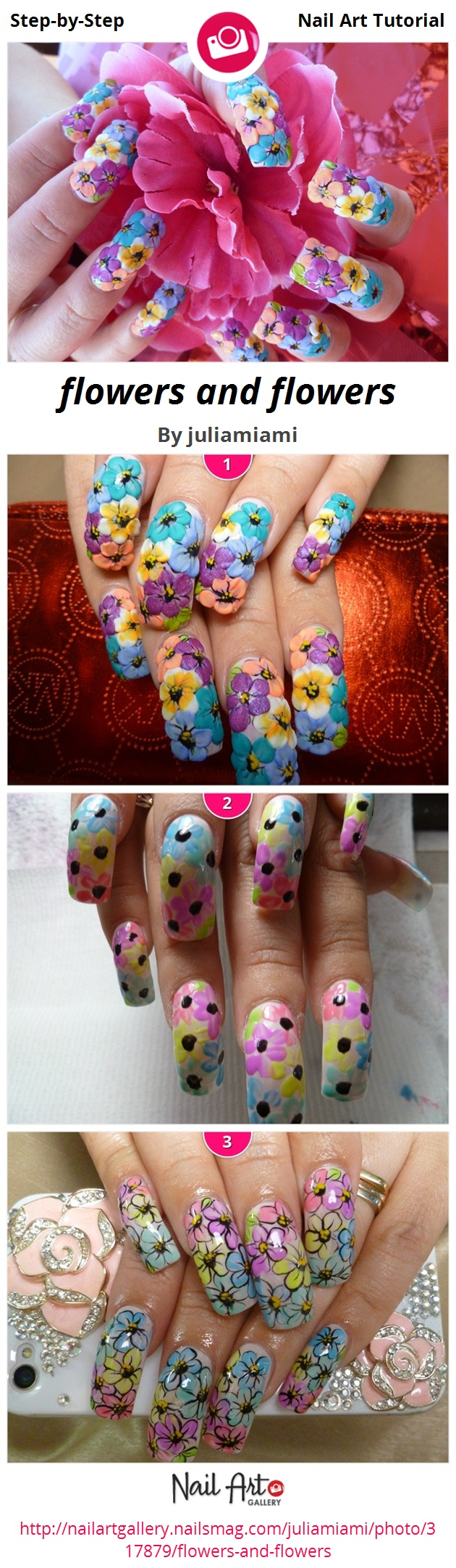 flowers and flowers by juliamiami - Nail Art Gallery Step-by-Step ...